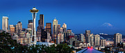 Seattle Skyline Art - Seattle Skyline Panoramic by Brian Jannsen