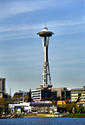 Cheryl Young Metal Prints - Seattle Space Needle Metal Print by Cheryl Young