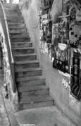 Cindi Ressler Prints - Seattle Stairs Print by Cindi Ressler