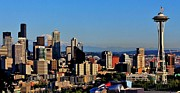 Seattle Skyline Art - Seattle Summer by Benjamin Yeager