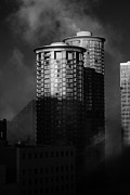 Bilings Framed Prints - Seattle Towers Framed Print by Paul Bartoszek