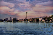 Space-scape Framed Prints - Seattle View Framed Print by Cheryl Young