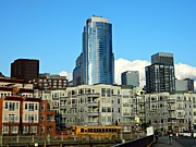 Seattle Greeting Cards Prints - Seattle Waterfront Print by Chalet Roome-Rigdon