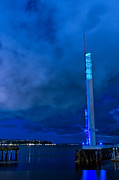 Seattle Waterfront Prints - Seattle Waterfront Tower Print by Tanya Harrison