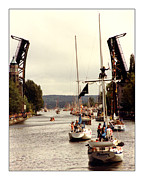 Seattle Framed Prints Prints - Seattle Yacht Club Opening Day 1983  Print by Jack Pumphrey