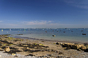 Boats Photos - Seaview Beach and The Solent - 01 by Rod Johnson