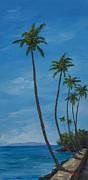 Seawall Palms Print by Darice Machel McGuire