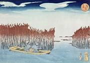 Utagawa Kuniyoshi - Seaweed Gatherers at Omari