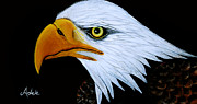 American Eagle Painting Metal Prints - Sebaztian Metal Print by Adele Moscaritolo