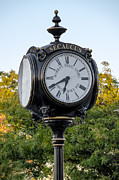 Clocks Prints - Secaucus Clock Marras Drugs Print by Susan Candelario
