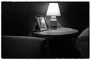 Table And Chairs Framed Prints - Secluded in Black and White Framed Print by David Patterson