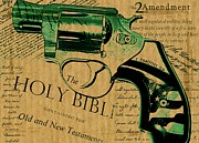 Declaration Of Independence Mixed Media - Second Amendment by Lauranns Etab