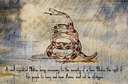 Gadsden Flag Prints - Second Amendment on a Flag Print by Brian Mollenkopf