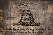 Gadsden Flag Prints - Second Amendment on a Gadsden Print by Brian Mollenkopf