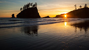 Cannon Beach Prints - Second Beach Sunstar Print by Mike Reid