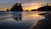 Cannon Beach Photos - Second Beach Tranquility by Mike Reid