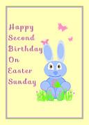 Second Birthday On Easter Print by Rosalie Scanlon