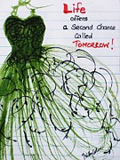 Evening Dress Paintings - Second Chance by Trilby Cole
