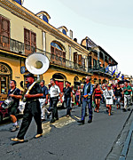 French Quarter Digital Art Framed Prints - Second Line  2 Framed Print by Steve Harrington
