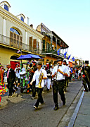 French Quarter Digital Art Framed Prints - Second Line Parade Framed Print by Steve Harrington