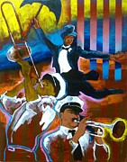 Mardi Gras Paintings - Second Line by Reuben Cheatem