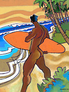 Nude Male Prints - Secret Break Print by Douglas Simonson