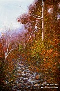 Thomas Moran Originals - Secret Creek Autumn by Tesh Parekh