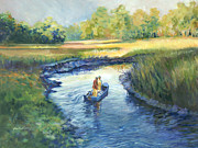 Secret Fishing Hole Print by Alice Grimsley