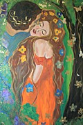 Gustav Klimt. Kiss Posters - Secret Garden Poster by Alma Yamazaki