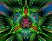 """digital Abstract"" Prints - Secret garden Print by Claude McCoy"