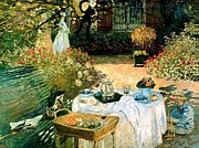 Brunch Paintings - Secret Garden by Claude Monet