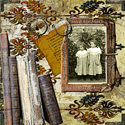 Photographs Mixed Media - Secret Histories Waiting to be Read by Karen  Burns
