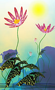 Guojun Pan Metal Prints - Secret Lotus Metal Print by GuoJun Pan