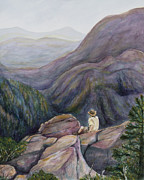 Sedona Drawings Prints - Secret Mountain Solitude Print by Angie Bray-Widner