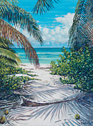 Bahamas Landscape Paintings - Secret Path by Danielle  Perry
