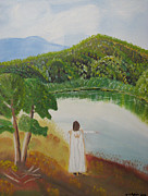 Jesus Art Paintings - Secret Place by Kristen Pagliaro