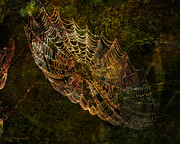 Web Digital Art Posters - Secret Spider Sanctuary Poster by J Larry Walker