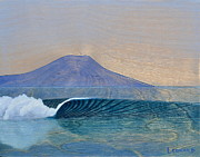 Surfing Art Paintings - Secret Spot by Nathan Ledyard