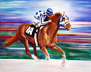 Secretariat Paintings - Secretariat  by Jennifer Morrison Godshalk