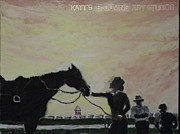 Secretariat Paintings - Secretariat On The Rise by Katrina Ricci