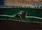 Secretariat Paintings - Secretariat running by Katrina Ricci