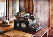 Typewriter Framed Prints - Secretary - Secretaries Day Framed Print by Mike Savad