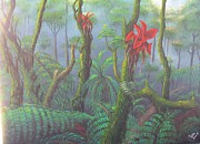 Flor Paintings - Secretos Del Bosque by Toyo Perez