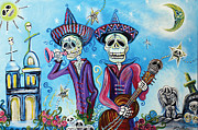 Graveyard Paintings - Secrets Of The Mariachi by Laura Barbosa