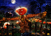 Pumpkins Digital Art - Secrets of the night by Alessandro Della Pietra