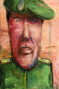 Character Portraits Paintings - Security Guard - 2012 by Nalidsa Sukprasert