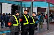 Armband Photos - Security team at Nanjing Road Shanghai China by Imran Ahmed