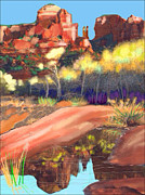 Autumn Prints Mixed Media Framed Prints - Sedona #4 Framed Print by Craig Nelson