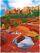 Prints On Canvas Pastels Framed Prints - Sedona 6 Framed Print by Craig Nelson
