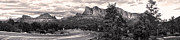 Sedona Arizona Black And White Panorama Print by Gregory Dyer